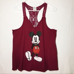 Maroon Mickey Mouse Tank Top